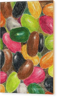 Belly Jelly Wood Print by Lynne Reichhart