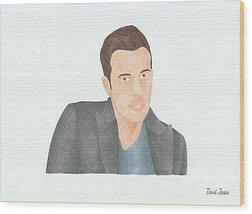 Ben Affleck Wood Print by Toni Jaso