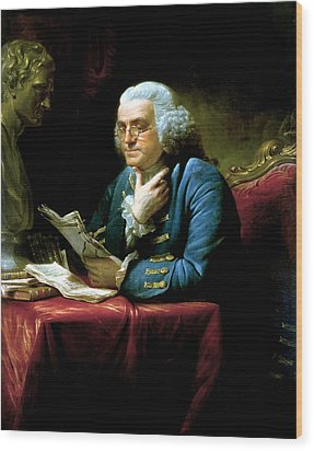 Ben Franklin Wood Print by War Is Hell Store