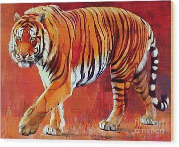 Bengal Tiger  Wood Print by Mark Adlington
