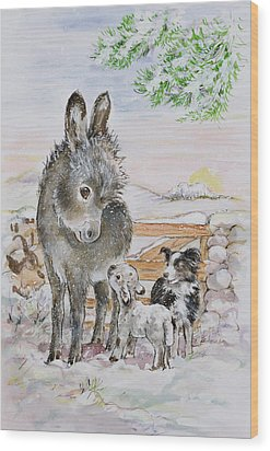 Best Friends Wood Print by Diane Matthes