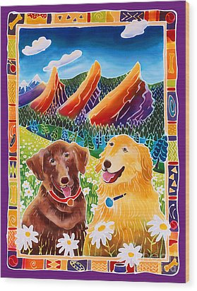 Best Friends Wood Print by Harriet Peck Taylor