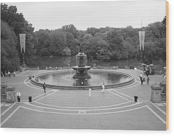 Bethesda Fountain Central Park New York Wood Print by Christopher Kirby