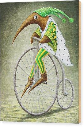 Bicycle Wood Print by Lolita Bronzini