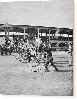 Bicycle Race, 1890 Wood Print by Granger
