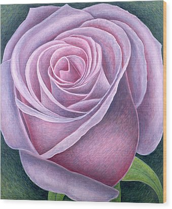 Big Rose Wood Print by Ruth Addinall