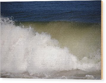 Big Waves Wood Print by Susanne Van Hulst