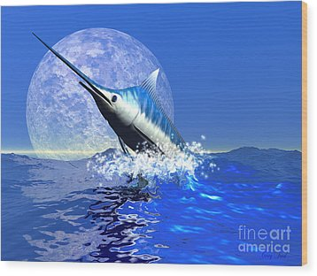 Billfish  Wood Print by Corey Ford