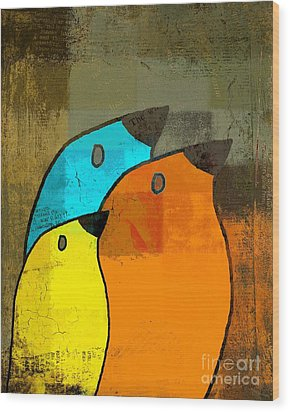 Birdies - C02tj1265c2 Wood Print by Variance Collections