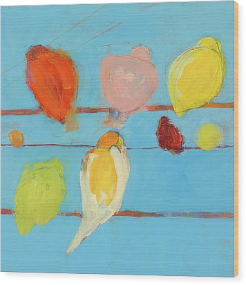 Birds Wood Print by Laurie Breen