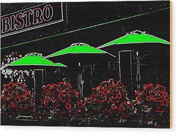 Bistro Wood Print by Will Borden