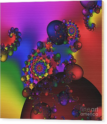 Black Holes Area 195 Wood Print by Rolf Bertram