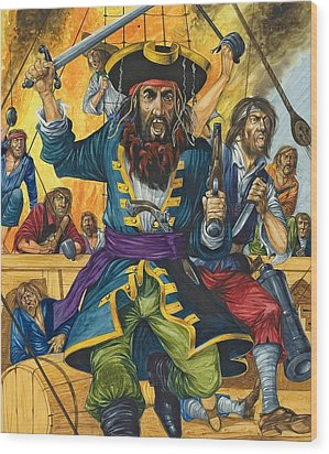 Blackbeard Wood Print by Richard Hook