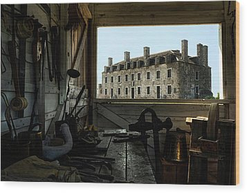 Blacksmith Shed Wood Print by Peter Chilelli