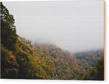 Blanket Of Clouds Wood Print by DigiArt Diaries by Vicky B Fuller