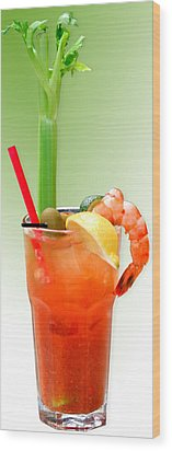 Bloody Mary Hand-crafted Wood Print by Christine Till