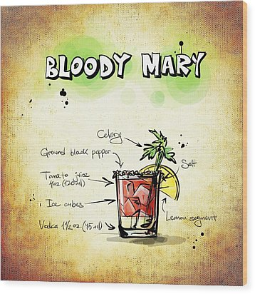 Bloody Mary Wood Print by Movie Poster Prints