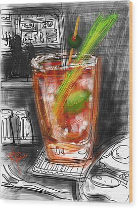 Bloody Mary Wood Print by Russell Pierce