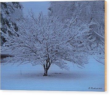 Blue Christmas Wood Print by Betty Northcutt