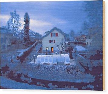 Blue Morn Wood Print by Chuck Shafer