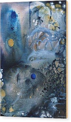 Blue Star Rising Wood Print by Lee Pantas