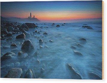 Blue Tide Wood Print by Rick Berk