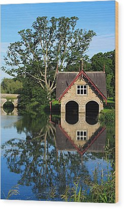 Boathouse Wood Print by Joe Burns
