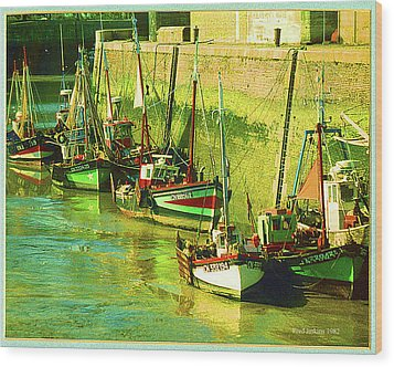 Boats At Honfluer France Wood Print by Fred Jinkins
