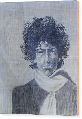 Bob Dylan In The Rock Years Wood Print by Judith Redman