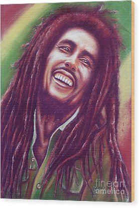 Bob Marley Wood Print by Anastasis  Anastasi