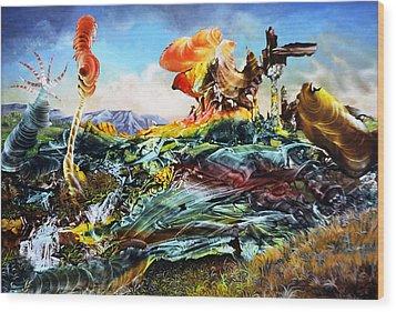 Bogomil Landscape Wood Print by Otto Rapp