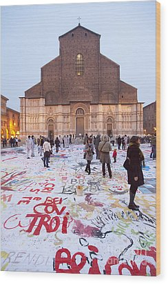 Bologna Cathedral Wood Print by Andre Goncalves