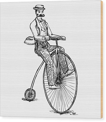 Boneshaker Velocipede Bicycle Wood Print by Karl Addison