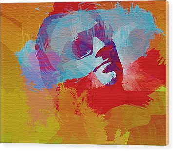 Bono U2 Wood Print by Naxart Studio