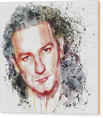 Bono Vox Wood Print by Marian Voicu
