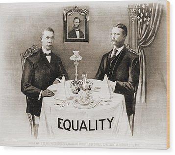 Booker T. Washington Dines Wood Print by Everett
