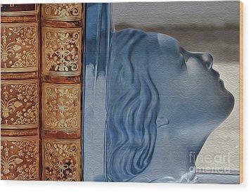 Books Wood Print by Eleni Mac Synodinos