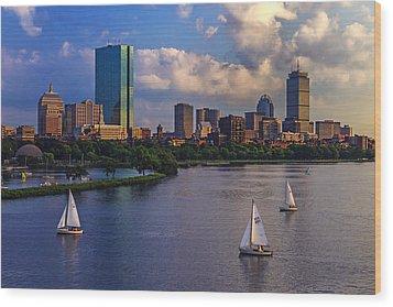 Boston Skyline Wood Print by Rick Berk