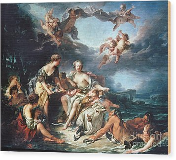 Boucher: Abduction/europa Wood Print by Granger