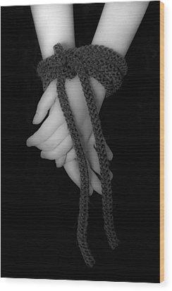 Bound Hands Wood Print by Joana Kruse