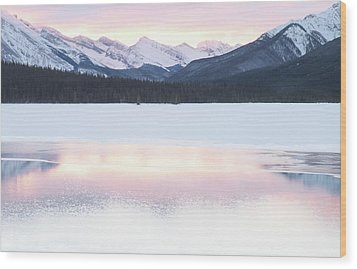 Bow Valley In Kananaskis Country Wood Print by Carol Cottrell