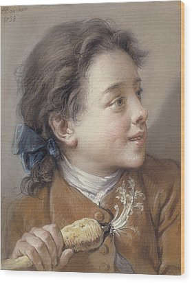 Boy With A Carrot, 1738 Wood Print by Francois Boucher