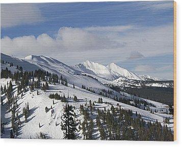 Breckenridge Resort Colorado Wood Print by Brendan Reals