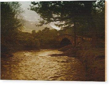 Bridge At The River Coe Wood Print by Mark Denham