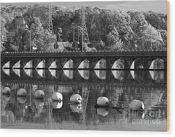 Bridge Reflection Wood Print by Karol Livote