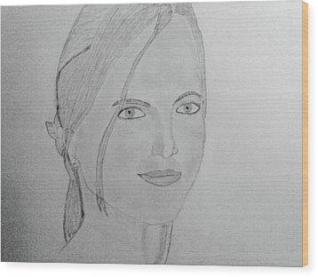 Britney Spears Wood Print by Vivek Raj