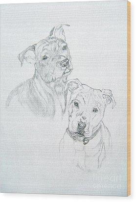 Brittney Wood Print by Nancy Rucker