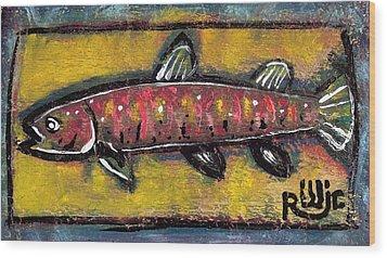 Brook Trout Wood Print by Robert Wolverton Jr
