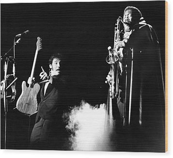 Bruce Springsteen - Halloween On E Street 1980 Wood Print by Chris Walter