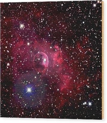 Bubble Nebula Wood Print by Jim DeLillo